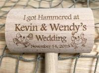 Custom Wedding Mallet Hammered Drinking Crabs Design with ...