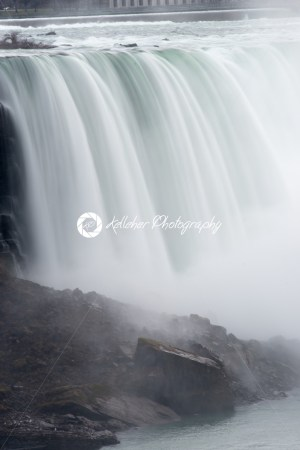 American Falls in Early Evening – View from Niagara Falls, Ontario Canada - Kelleher Photography Store