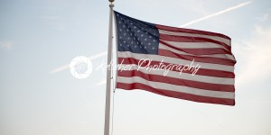 Flag of the United States of America waving at sunset - Kelleher Photography Store