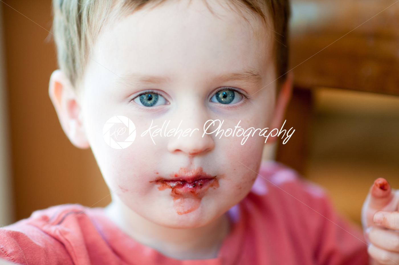 Little boy eating chocolate covered strawberries - Kelleher Photography Store