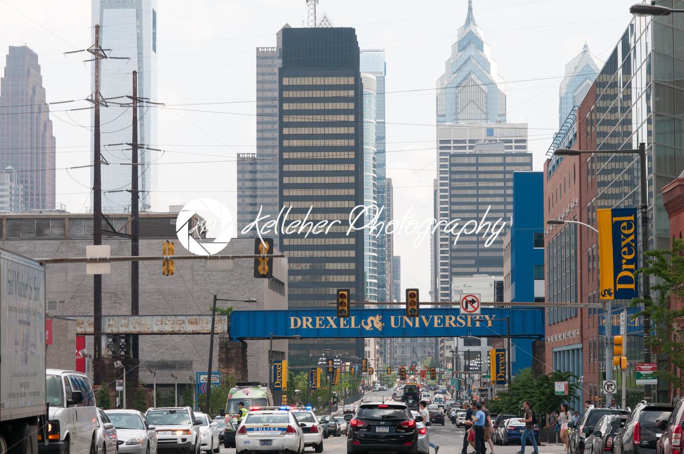 PHILADELPHIA, PA – JUNE 13: Drexel University Campus in the University City section of West Philadelphia on graduation day on June 13, 2014 - Kelleher Photography Store