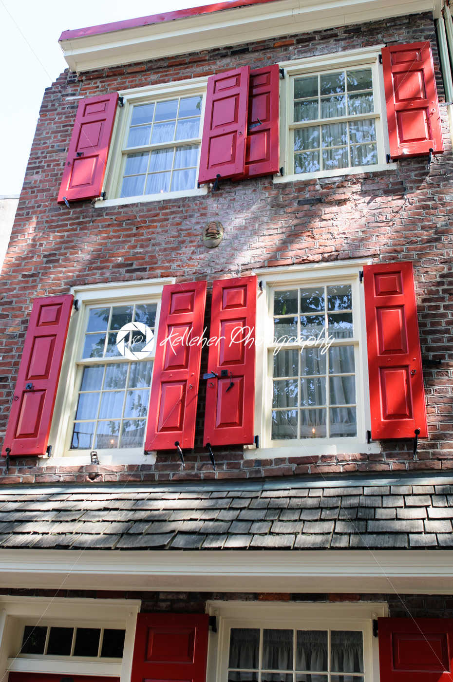 PHILADELPHIA, PA – MAY 14: The historic Old City in Philadelphia, Pennsylvania. Elfreth's Alley, referred to as the nation's oldest residential street, dating to 1702 on May 14, 2015 - Kelleher Photography Store
