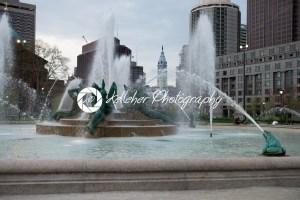 PHILADELPHIA, USA – APRIL 19: Swann Fountain in Logan Square on Benjamin Franklin Parkway in Center City Philadelphia on April 19, 2013 - Kelleher Photography Store