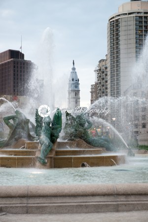 PHILADELPHIA, USA – APRIL 19: Swann Fountain in Logan Square on Benjamin Franklin Parkway in Center City Philadelphia on April 19, 2013 - Kelleher Photography Store