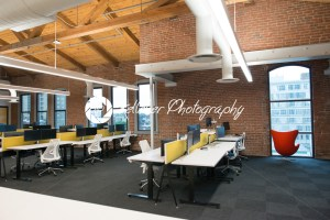 Trendy modern open concept loft office space with big windows, natural light and a layout to encourage collaboration, creativity and innovation - Kelleher Photography Store