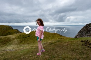 Girl looking out over the Slieve League Cliffs, County Donegal, Ireland - Kelleher Photography Store