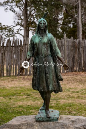 Jamestown, Virginia – March 27, 2018: Pocahontas Statue, by William Ordway Partridge, erected in 1922, representing Pocahontas - Kelleher Photography Store