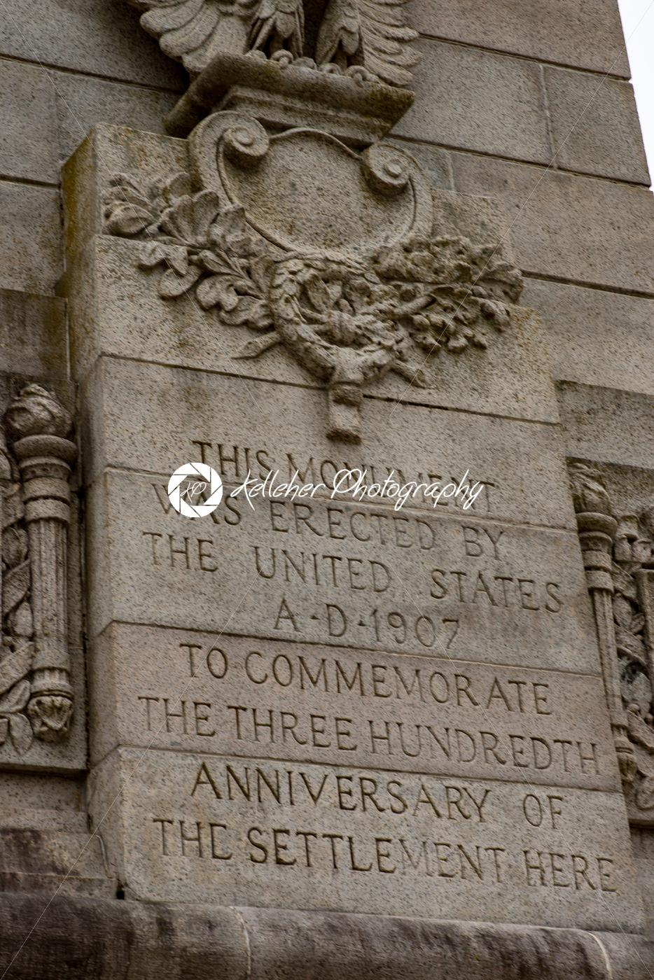 Jamestown, Virginia – March 27, 2018: Tercentenary Monument in Historic Jamestown, VA - Kelleher Photography Store