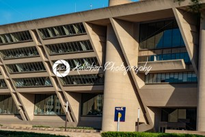 Dallas, Texas – May 7, 2018: Dallas City Hall, designed by renouned architect I. M. Pei, was used for the Robocop movies - Kelleher Photography Store
