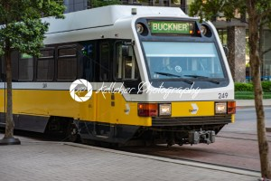 Dallas, Texas – May 7, 2018: The Dallas DART light rail train drives through Dallas, Texas - Kelleher Photography Store