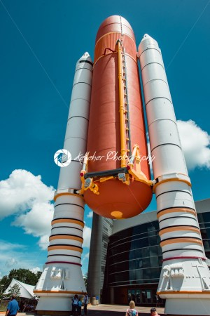 Cape Canaveral, Florida – August 13, 2018: Atlantis Space Shuttle Rocket Booster at NASA Kennedy Space Center - Kelleher Photography Store