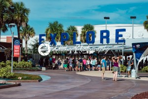 Cape Canaveral, Florida – August 13, 2018: Entrance at NASA Kennedy Space Center - Kelleher Photography Store