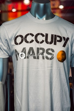 Cape Canaveral, Florida – August 13, 2018: Occupy Mars shirt at NASA Kennedy Space Center - Kelleher Photography Store
