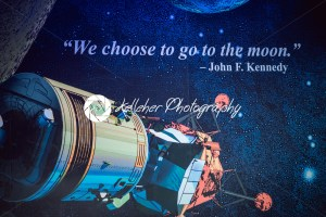Cape Canaveral, Florida – August 13, 2018: Sign quote We choose to go to the moon by John F Kennedy at NASA Kennedy Space Center - Kelleher Photography Store