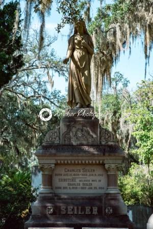 Charles Seiler Cemetery Statuary Statue Bonaventure Cemetery Savannah Georgia - Kelleher Photography Store