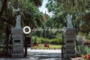 Christian entrance Cemetery Statuary Statue Bonaventure Cemetery Savannah Georgia - Kelleher Photography Store