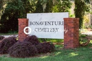 Monument sign at entrance to Bonaventure Cemetery Savannah Georgia - Kelleher Photography Store