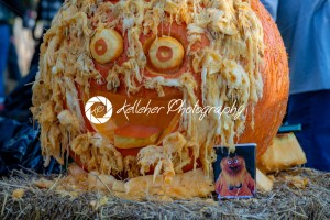 CHADDS FORD, PA – OCTOBER 18: Gritty the new Philadelphia Flyer's mascot at The Great Pumpkin Carve carving contest on October 18, 2018 - Kelleher Photography Store