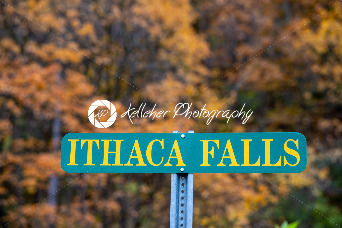 Ithaca Falls in the Finger Lakes region, Ithaca, New York. This is the last and largest of several waterfalls on Fall Creek. - Kelleher Photography Store
