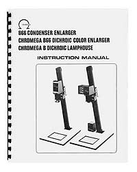 Omega B-66 / B66 Enlarger Instruction Manual with parts list