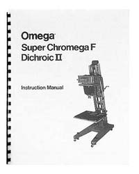 Omega Super Chromega F Dichroic II 8x10 Enlarger Manual