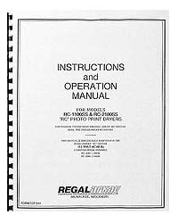 Arkay RC-1100 / RC-2100 Print Dryer Instruction Manual