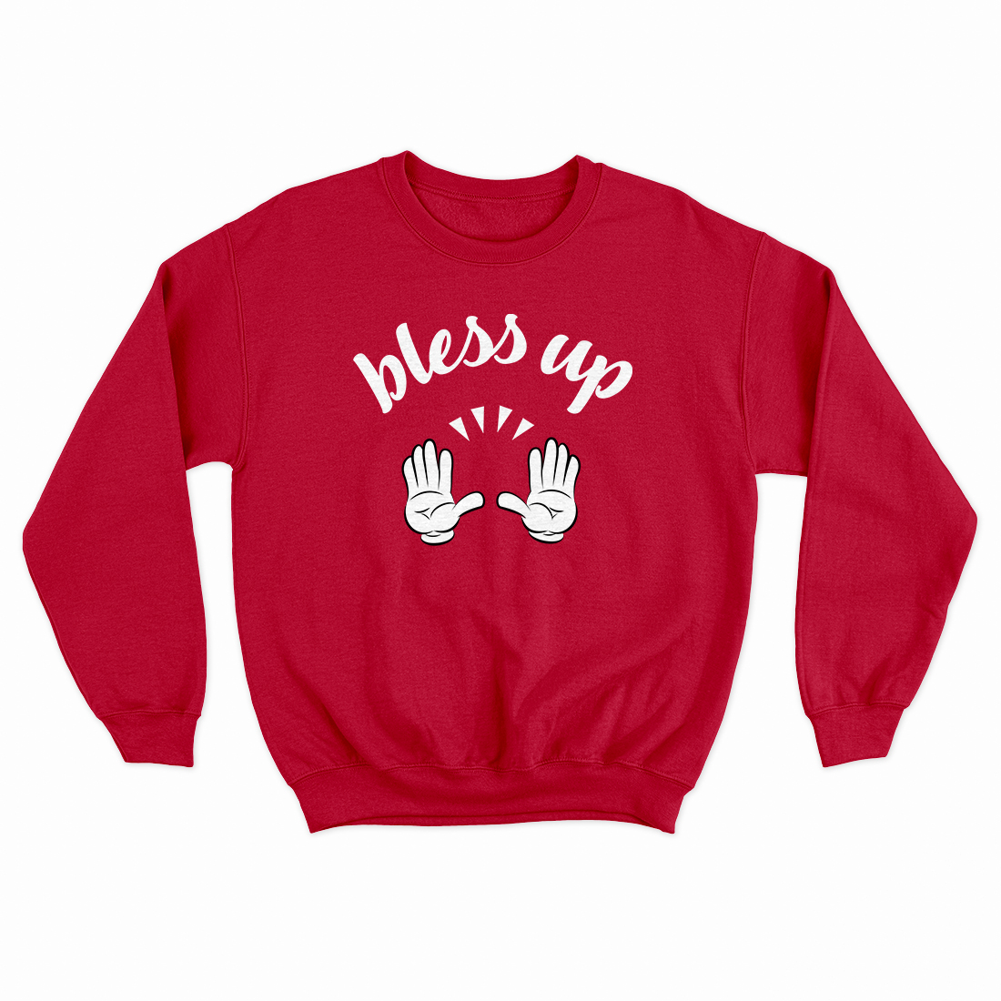 Bless Up Cartoon Gloves [Red]