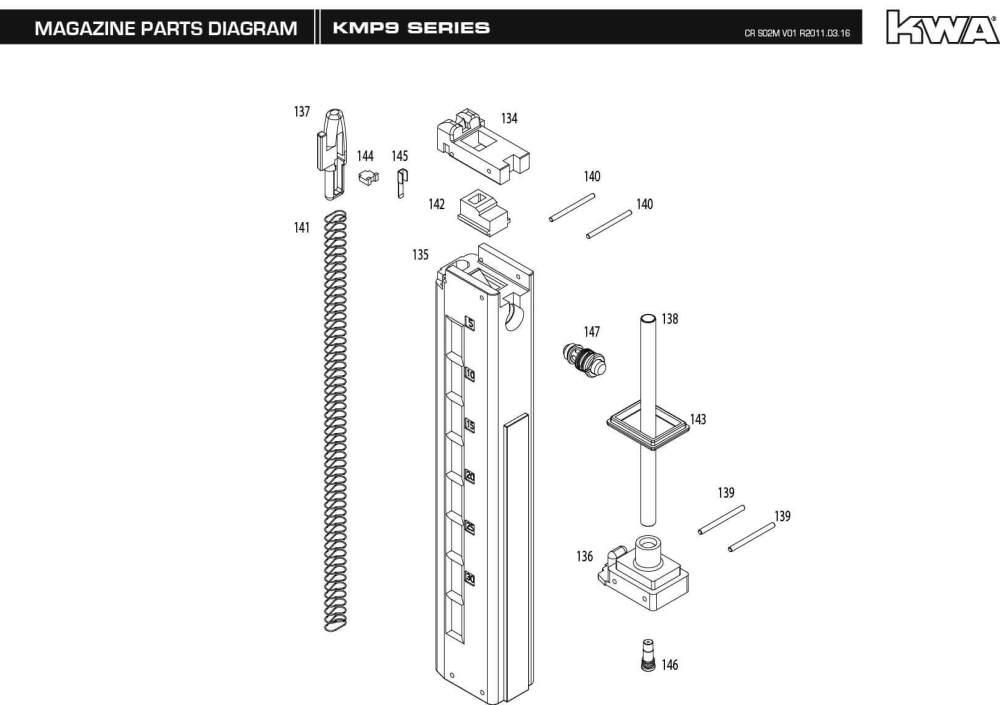 medium resolution of m p 9 parts diagram wiring diagram for you hk p2000 parts diagram downloads kwa airsoft smith