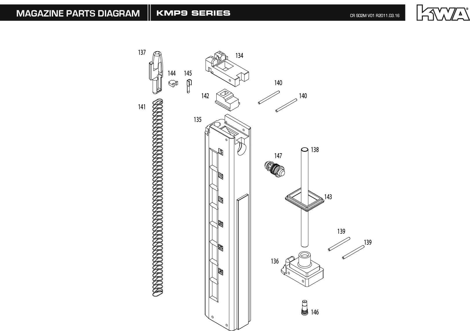 hight resolution of m p 9 parts diagram wiring diagram for you hk p2000 parts diagram downloads kwa airsoft smith