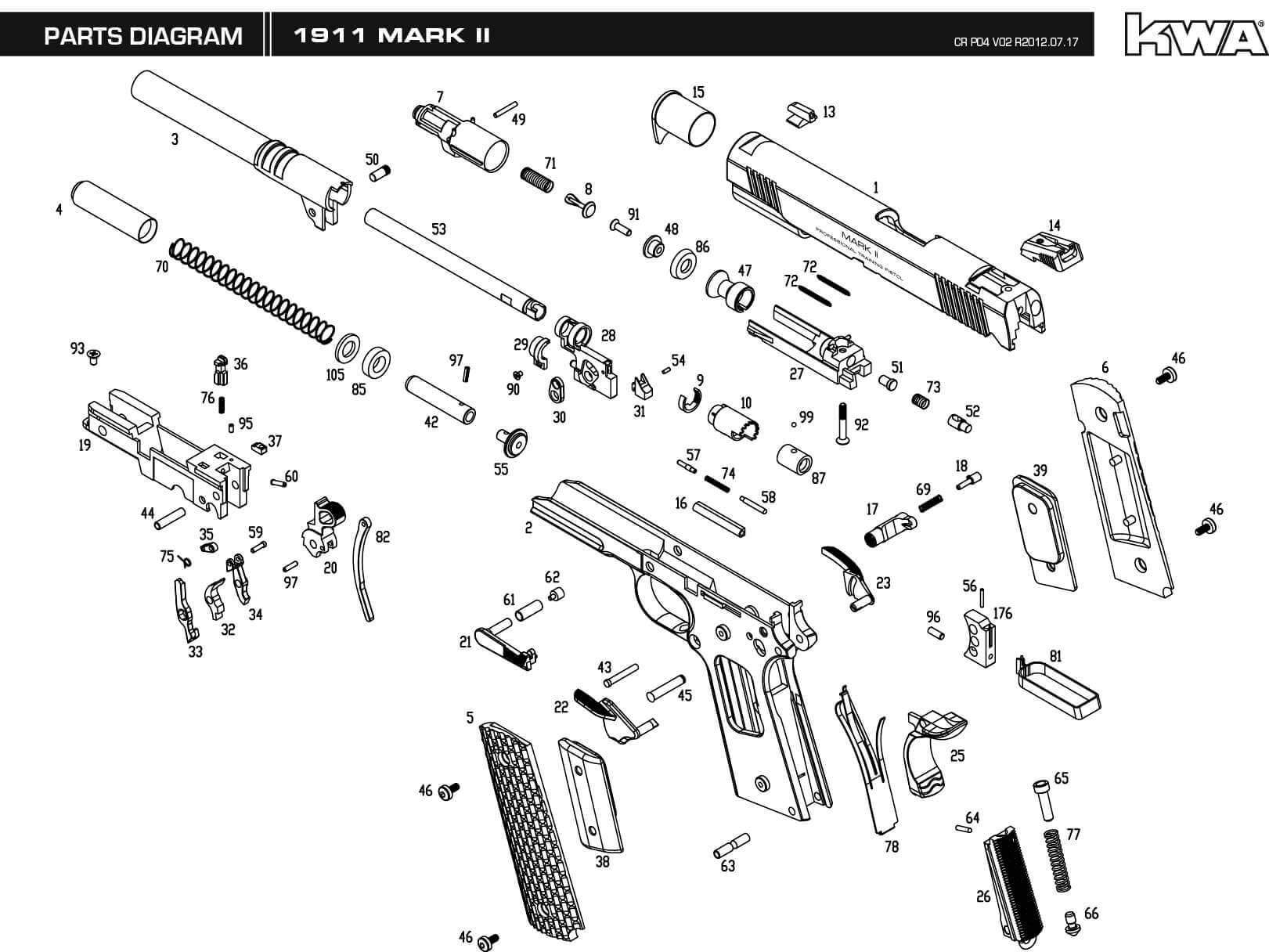 handgun slide parts diagram boat battery charger wiring downloads  kwa airsoft