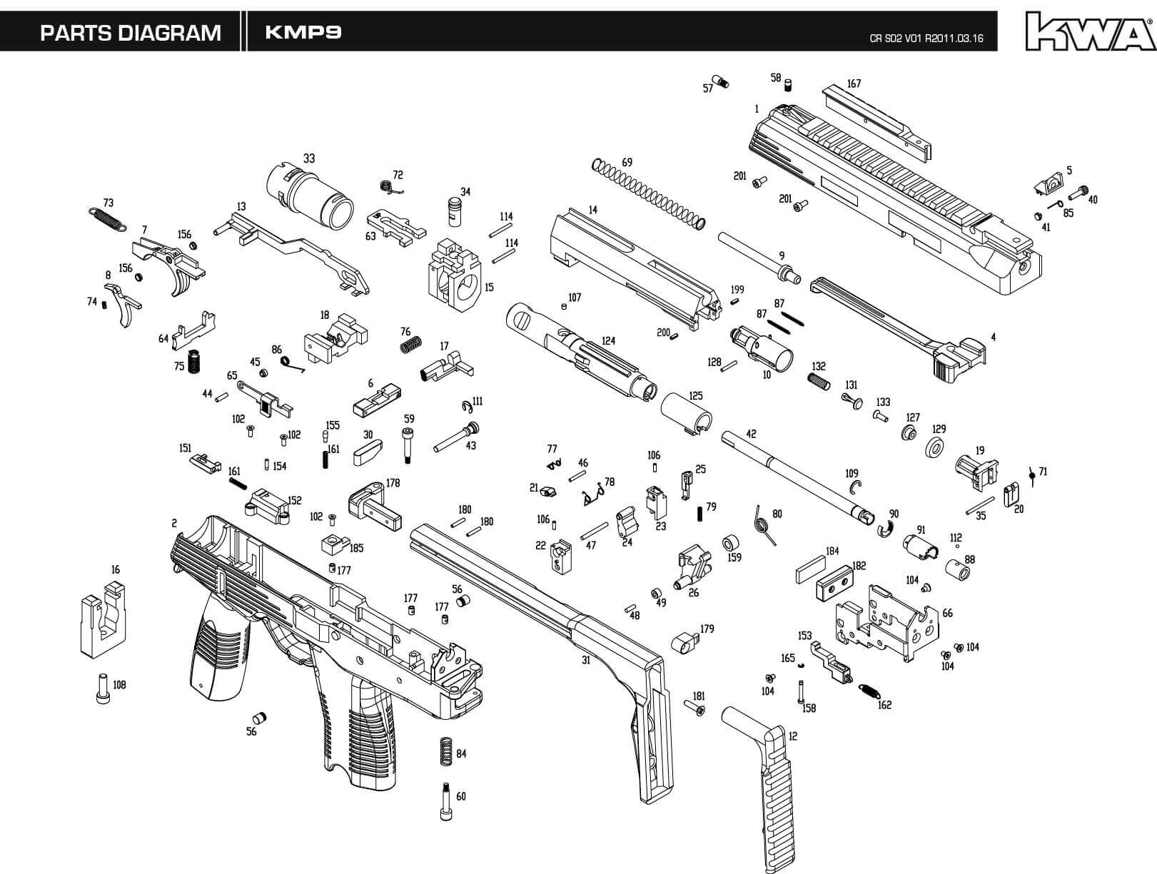 hight resolution of mp 9 parts diagram just wiring diagram downloads kwa airsoft mp 9 parts diagram