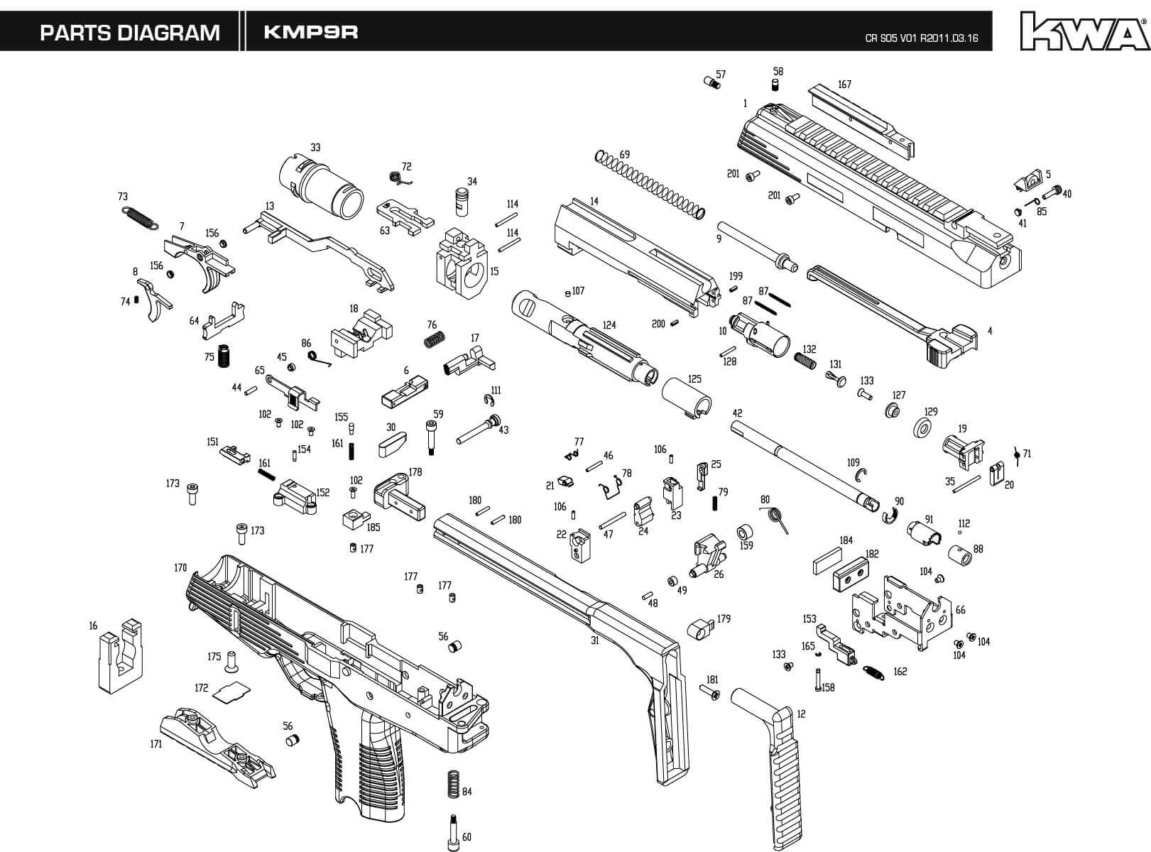 hight resolution of downloads kwa airsoft smith and wesson m p 9mm parts diagram m p 9 parts diagram