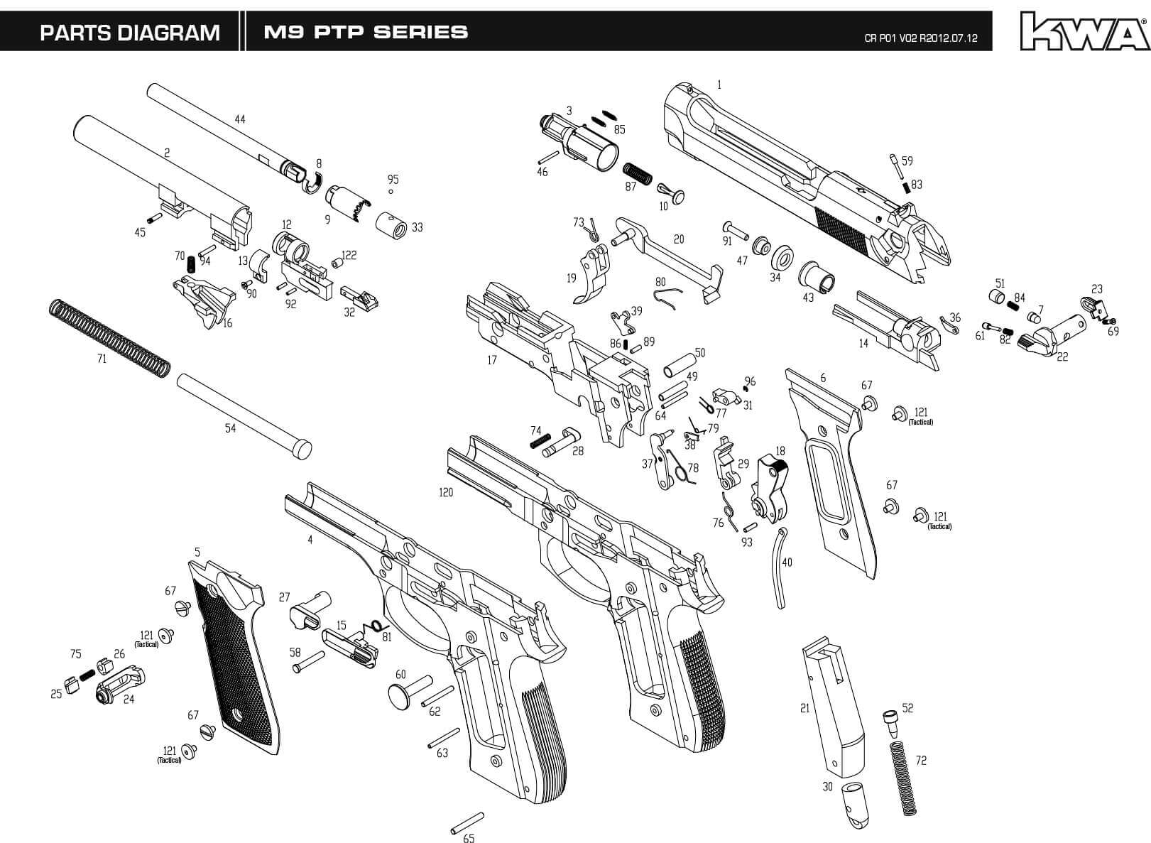 hight resolution of m9 parts diagram wiring diagram data today m9 parts manual downloads kwa airsoft steyr m9 parts
