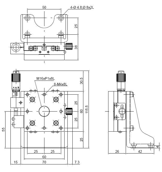 Low-profile Vertical Z Translation Stage MLZ60-ASZ