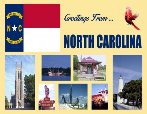 Greeting From North Carolina Postcard