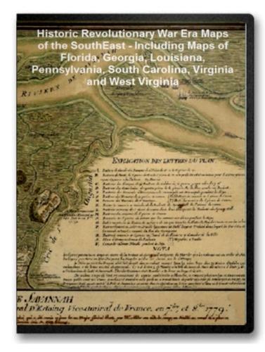 Southern States Revolutionary War Era Maps on CD