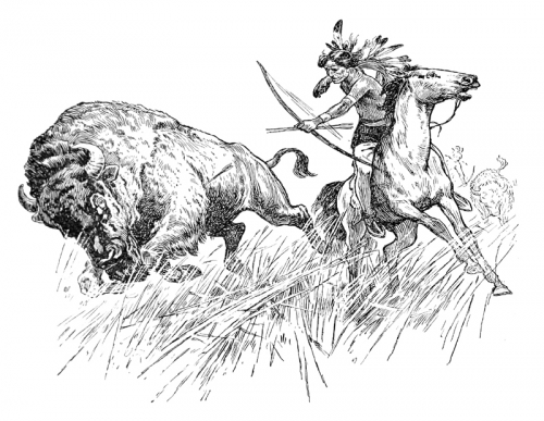 Indian Buffalo Hunt Coloring Page Free Digital Download