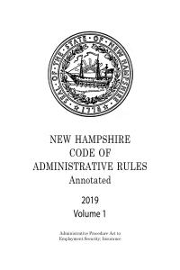 New Hampshire Code of Administrative Rules Annotated