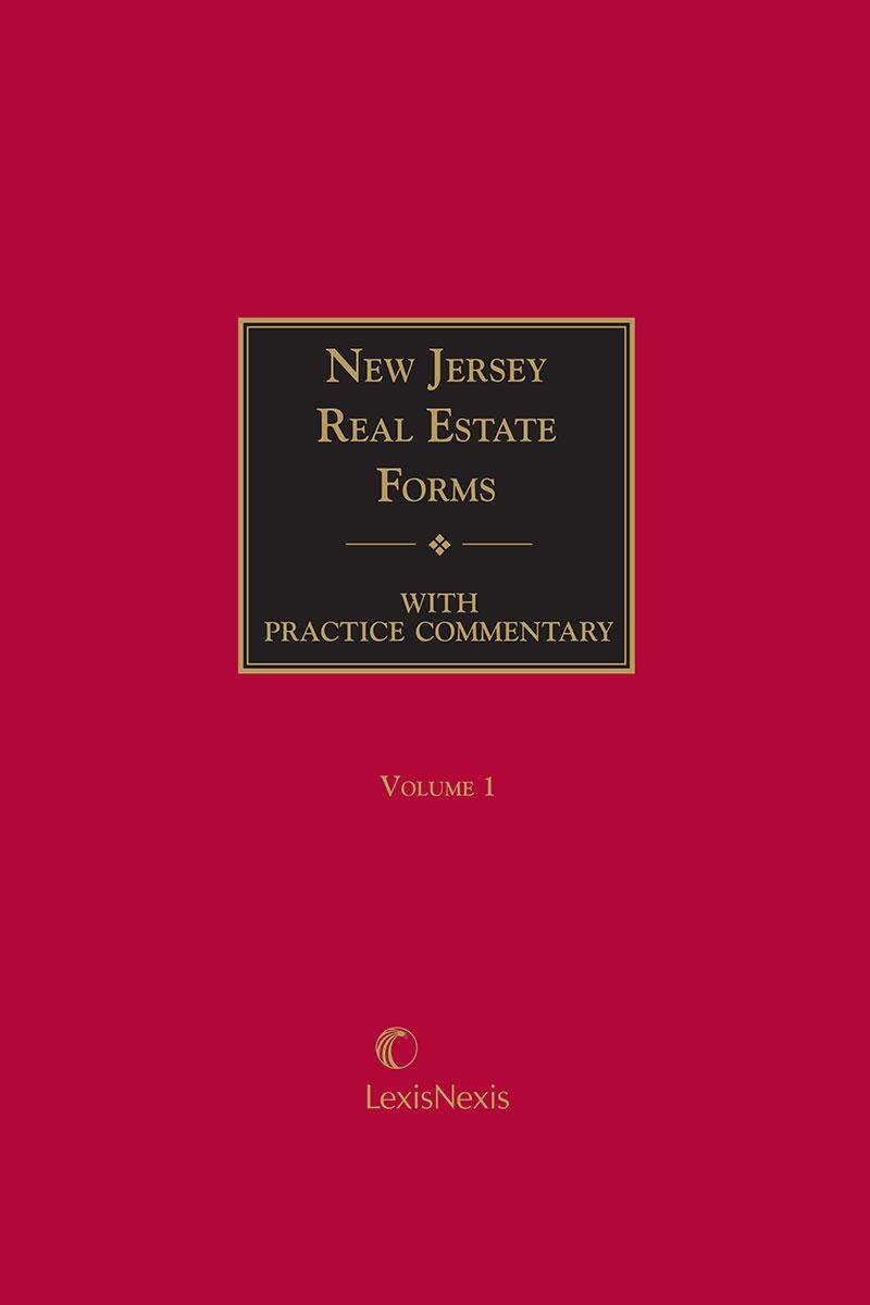 New Jersey Real Estate Forms Cover