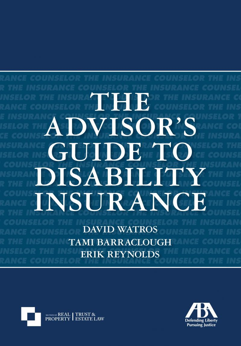 The Advisors Guide to Disability Insurance  LexisNexis Store