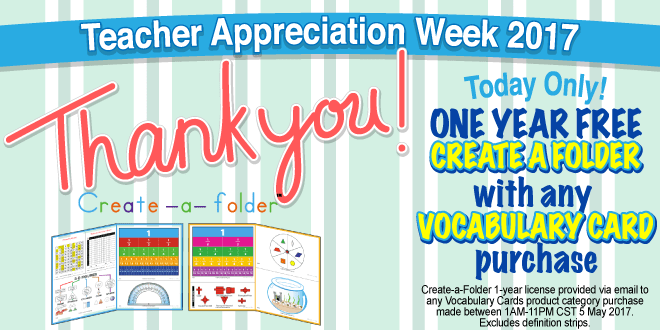 Teacher Appreciation Week Friday: FREE Create-a-Folder!