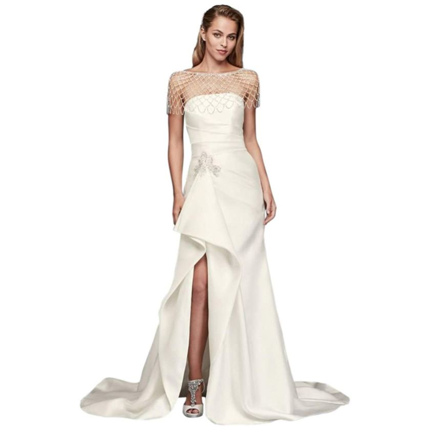 Form Fitting Wedding Gowns: Sheath Form Fitting Wedding Dress Amazon