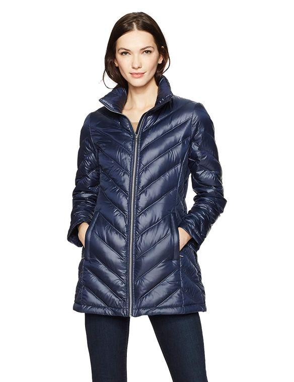 d9a899a5e7f HAVEN OUTERWEAR Women s Mid-Length Packable Down Puffer Jacket