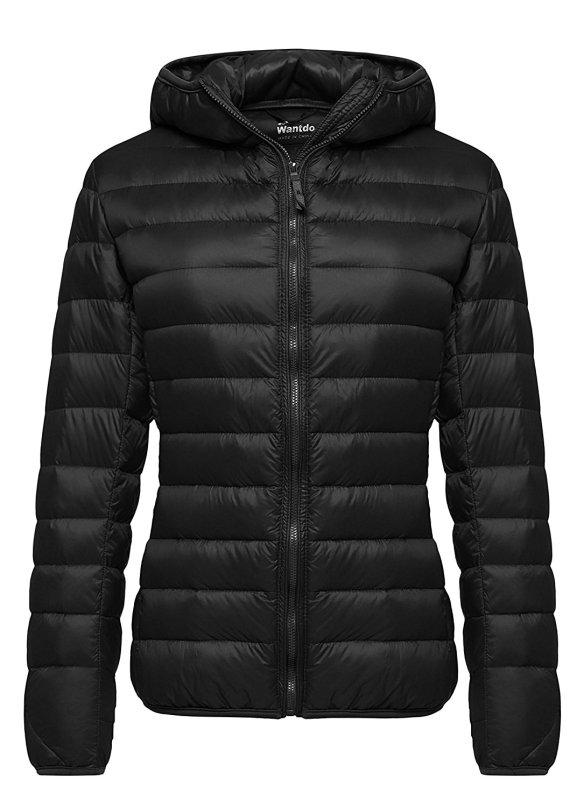 1a4f4b78570 Wantdo Women s Hooded Packable Ultra Light Weight Short Down Jacket