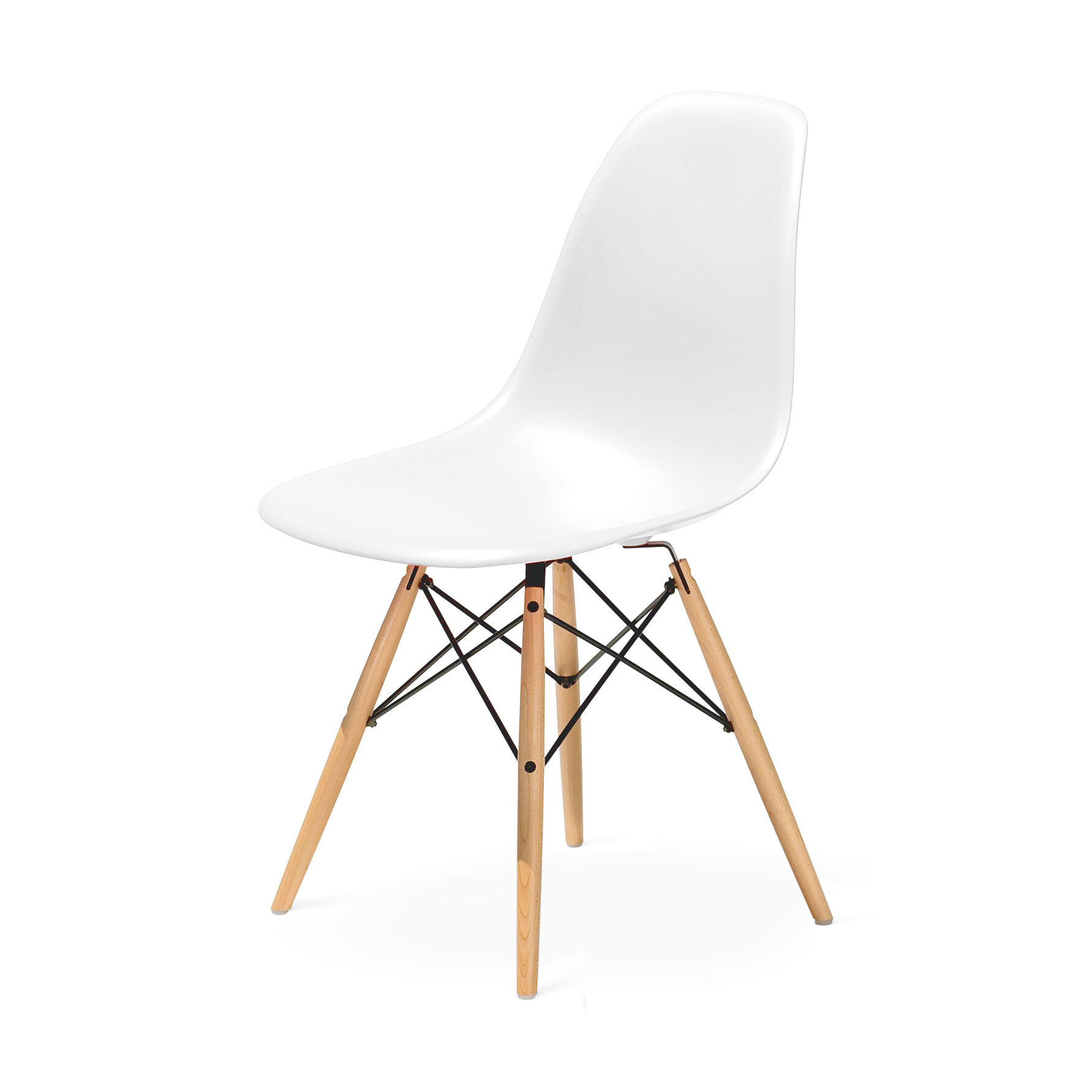 eames molded side chair lazy boy big and tall office staples plastic with dowel moma design store reg in color white