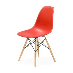Plastic Molded Chairs White Tabouret Stacking Eames Side Chair With Dowel Moma Design