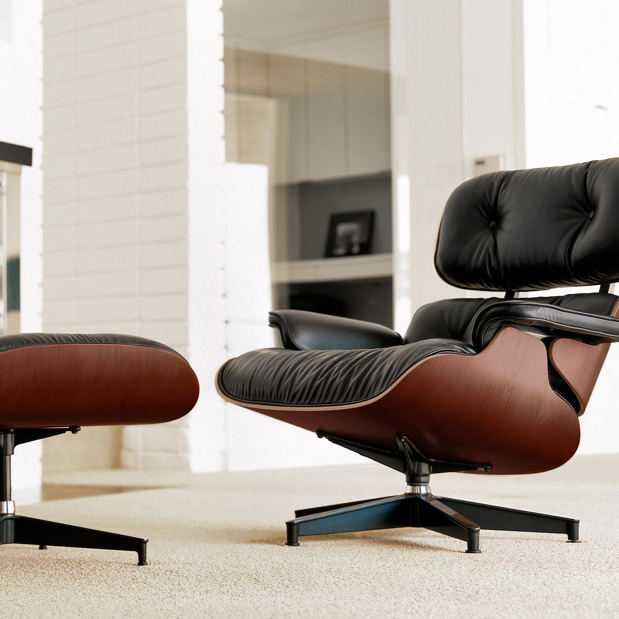 Lounge Chair With Ottoman Eames Lounge Chair With Ottoman Moma Design Store