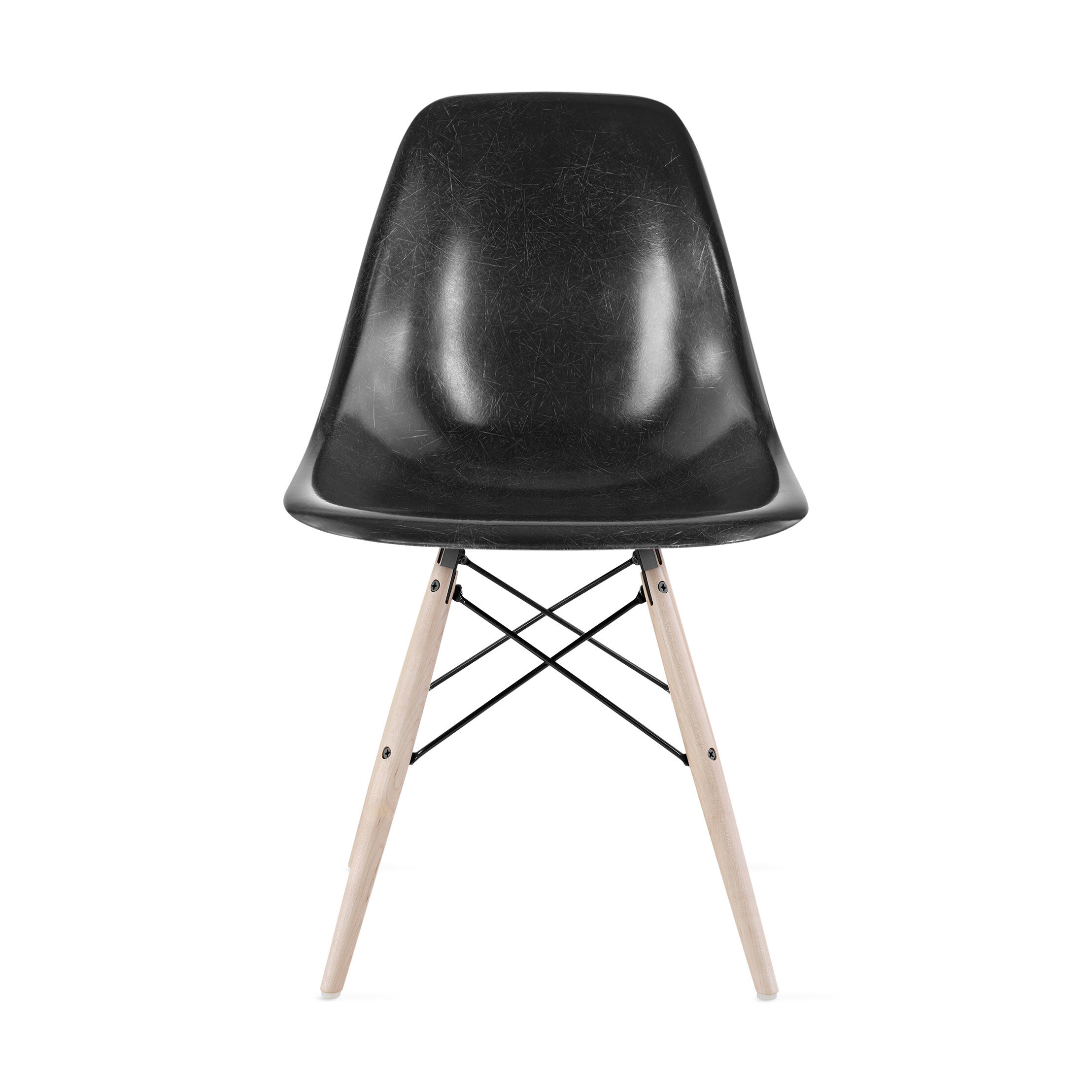 eames molded side chair padded lawn chairs fiberglass black moma design store reg