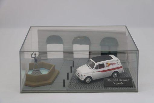 Hachette 143 Fiat 500 Gamine Vignale DIORAMA 1 scaled