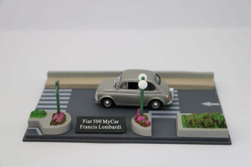 Hachette 143 Fiat 500 MyCar Francis Lombardi DIORAMA scaled
